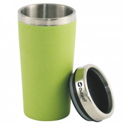 OUTWELL Vacuum Bamboo Cup green termo pohár
