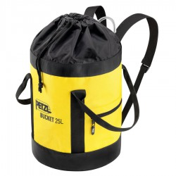 PETZL Bucket 25 black/yellow kötélzsák