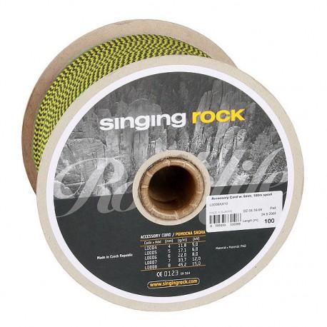 SINGING ROCK Cord 6mm yellow kötélgyűrű