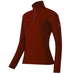 MAMMUT Snow ML Half Zip Pull Women maroon póló