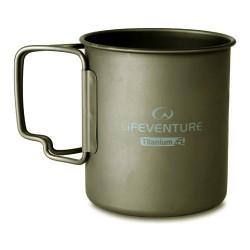 LIFEVENTURE Titanium Mug 450 ml bögre
