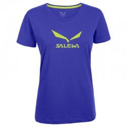 SALEWA Solidlogo CO W S/S Tee spectrum blue póló