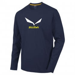 SALEWA Solidlogo 2 CO M L/S night black hosszú ujjú póló