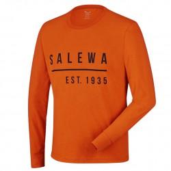 SALEWA Binne CO M L/S rusty rock hosszú ujjú póló