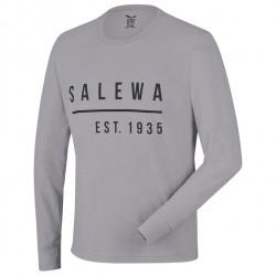 SALEWA Binne CO M L/S grey melange hosszú ujjú póló