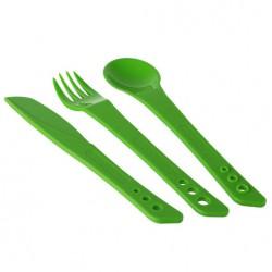 LIFEVENTURE Ellipse Cutlery green evőeszköz szett