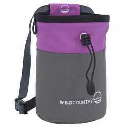 WILD COUNTRY Petit Bloc Chalk Bag grey/purple pocket magnézium