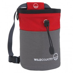 WILD COUNTRY Petit Bloc Chalk Bag grey/red pocket magnézium