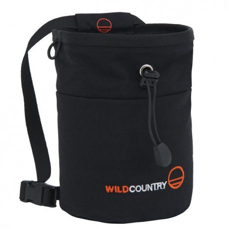 WILD COUNTRY Petit Bloc Chalk Bag black pocket magnézium