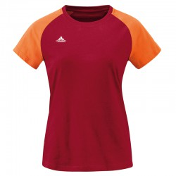 VAUDE Logo Women Tee darkred póló