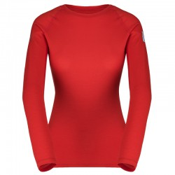 ZAJO Elsa Merino W T-shirt LS racing red póló