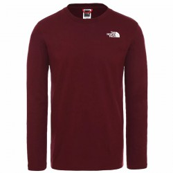 THE NORTH FACE M L/S Easy Tee garnet póló