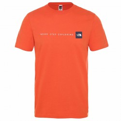THE NORTH FACE M S/S Never Stop Exploring Tee orange póló