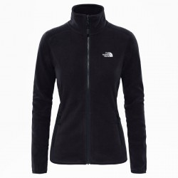 THE NORTH FACE W 100 Glacier Full Zip black bunda fleece felső