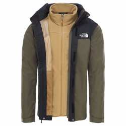 THE NORTH FACE M Evolve II Triclimate taupe green bunda